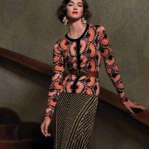 Anthropologie Tabitha Odval Cardigan Sweater Print